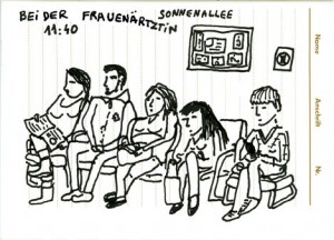 A Dr.'s waiting room in Berlin-Neukölln