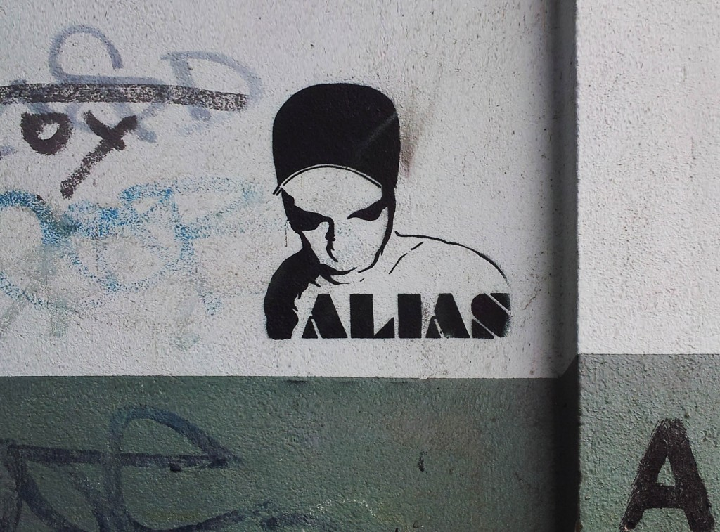 photo of stencil graffiti by Berlin Urban Artist ALIAS by xhiller for realeyz