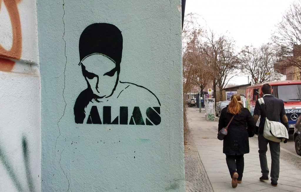 photo of a stencil graffiti on a Kreuzberg wall by Berlin Urban Artist ALIAS taken by xhiller