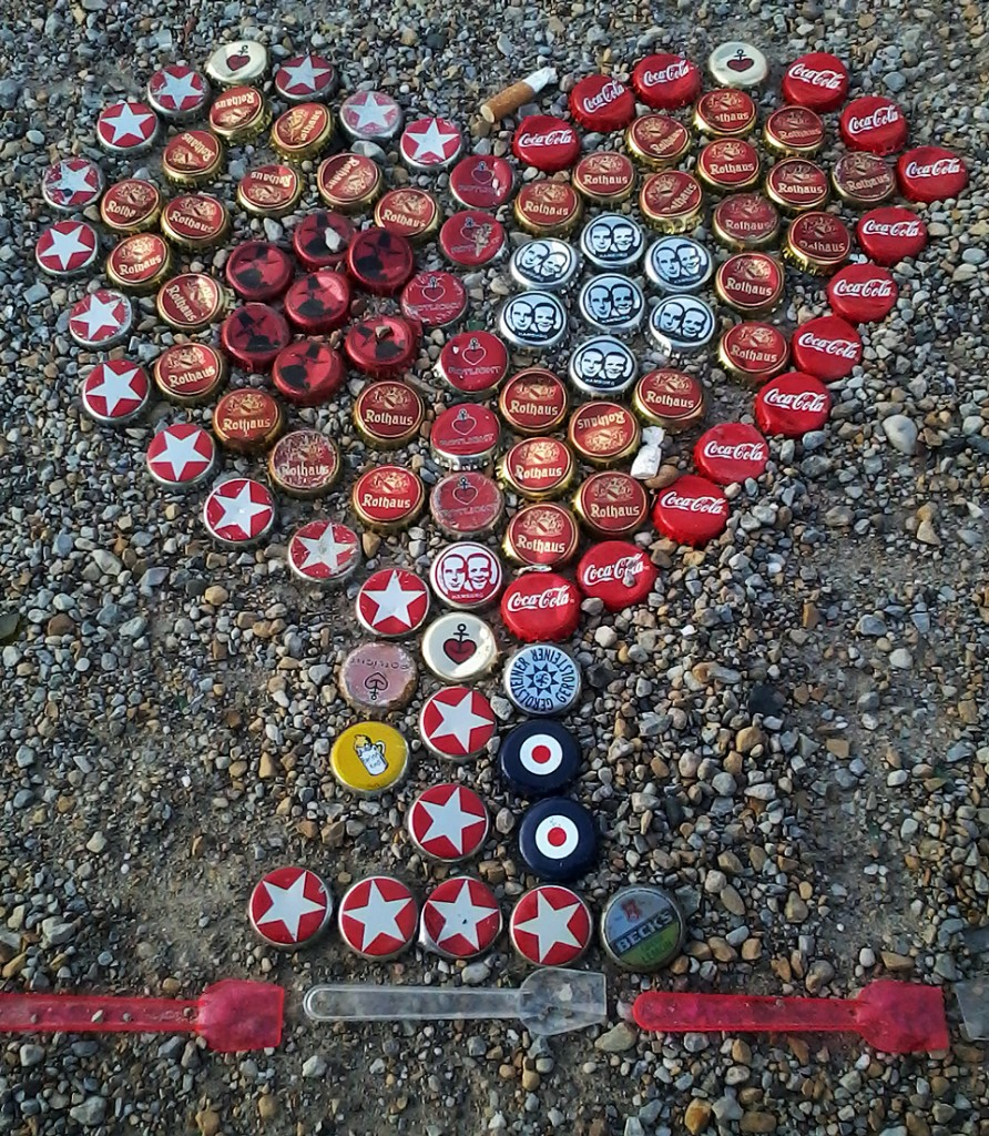 Mathias Waller bottle cap mosaic